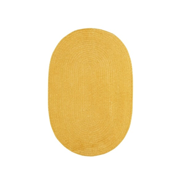 Brindille Chenille Oval Made to Order Rug Corn - 8' x 11'
