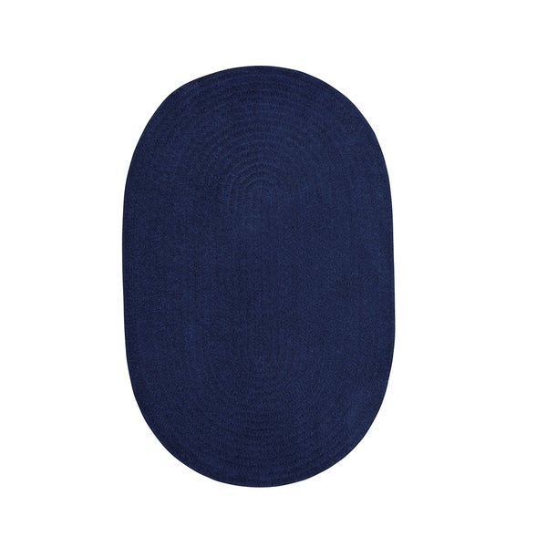 Brindille Chenille Oval Made to Order Rug Dark Sapphire - 8' x 11'