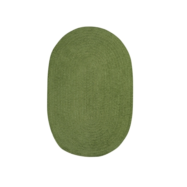 Brindille Chenille Oval Made to Order Rug Grass - 8' x 11'
