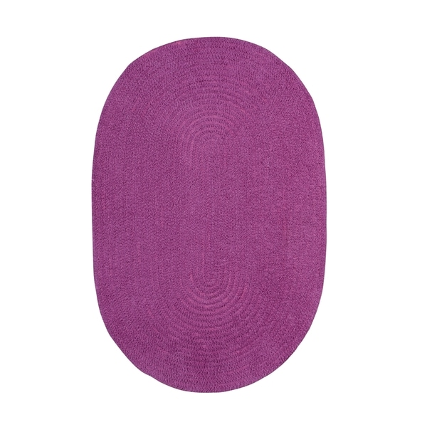 Brindille Chenille Oval Made to Order Rug Blueberry - 8' x 11'