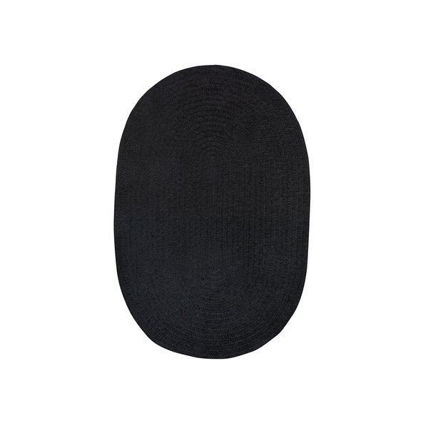 Brindille Chenille Oval Made to Order Rug Onyx - 8' x 11'