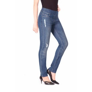 Bluberry Denim Women's Laura Medium Blue Plus-size Jeans