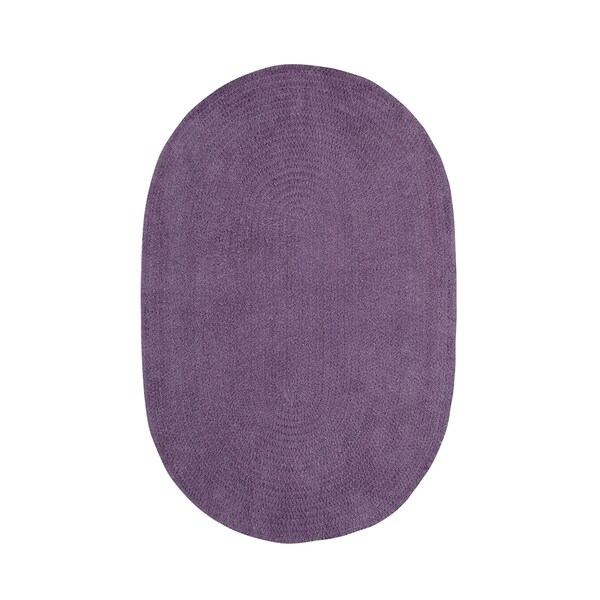 Brindille Chenille Oval Made to Order Rug Wisteria - 8' x 11'