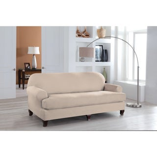 Tailor Fit Stretch Fit T Sofa Slipcover (2-piece Set) in Grey (As Is Item)