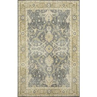 Hand Knotted Stone Gray/Brown Sugar Transitional Pattern Rug (8' X 10')