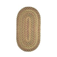 Karter Made to Order Braided Rug Yellow (4' x 6') - 4' x 6'