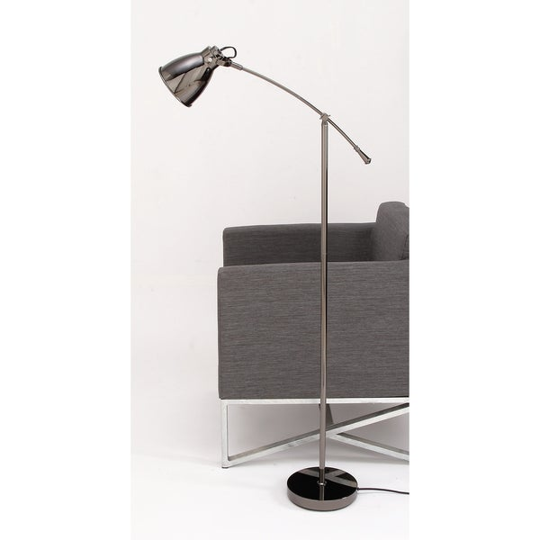 Urban Designs Ronda Graphite Adjustable Floor Lamp