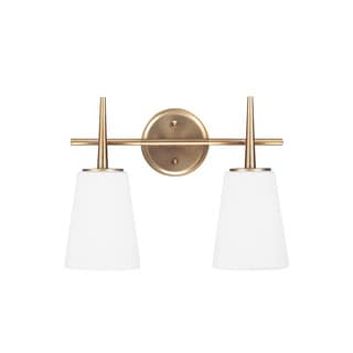 Sea Gull Driscoll 2 Light Satin Bronze Wall/Bath Sconce