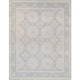 Pasargad Transitional Collection Silver Wool Hand-knotted Area Rug (8' x 10')