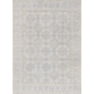 Pasargad's Transitiona Collection Hand-Knotted Wool Area Rug (9' X 12')