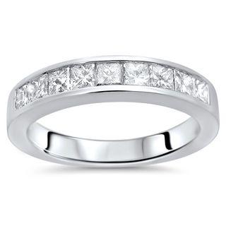 Noori 18k White Gold 3/4ct TDW Princess-cut Diamond Wedding Band (G-H, SI1-SI2)