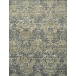 Hand Knotted Ashwood/Silver Contemporary Pattern Rug (9' X 12')