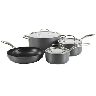 Hamilton Beach Grey Hard-anodized/ Stainles Steel Aluminum Classic 7-piece Quantanium Cookware Set