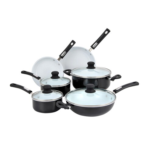 Hamilton Beach Aluminum Ceramic Non-stick 10-piece Cookware Set