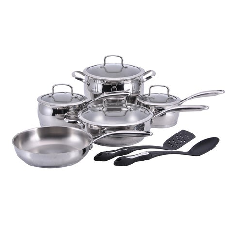 Hamilton Beach 11-Piece Stainless Steel Cookware Set