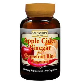Only Natural Apple Cider Vinegar plus Grapefruit Rind Cayenne Capsules (90 Capsules) https://ak1.ostkcdn.com/images/products/13133873/P19862866.jpg?impolicy=medium
