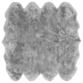 eCarpetGallery Grey Sheepskin/Wool Handmade Rug (6' x 6')