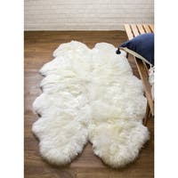 Super Area Rugs Australian Sheepskin Fur Handmade Rug (4' x 6')