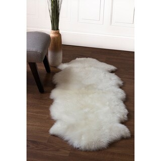 Australian Sheepskin Fur Double Pelt Handmade Rug (2' x 5'6) - 2' x 6'