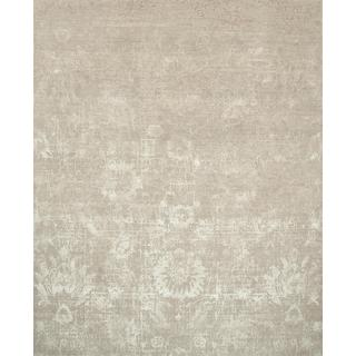 Hand Knotted Ivory/Flax Contemporary Pattern Rug (9' X 12')