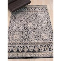 Hand-tufted Wool Blue Transitional Floral Claire Rug - 5' x 7'