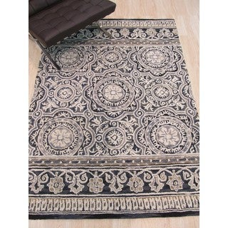 Hand-tufted Wool Blue Transitional Floral Claire Rug (5' x 7')