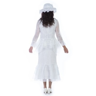 Giovanna Signature Women's Organza Missy/ Plus-size 3-piece Skirt Suit