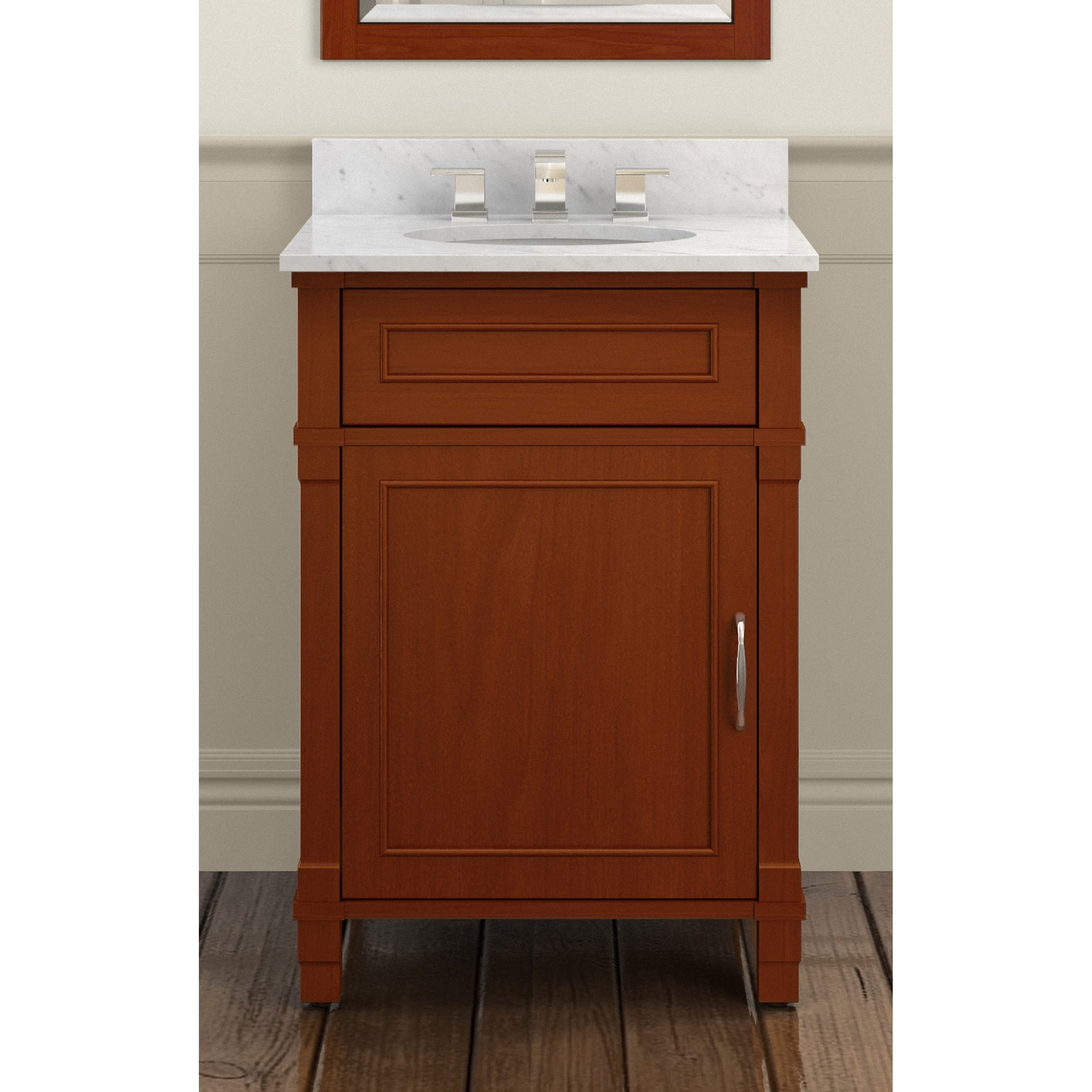 Chestnut Wood 24 Inch Bath Vanity Set