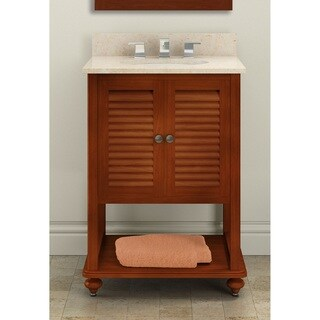 Alaterre Tahiti Chestnut and Marble 24-inch Bath Vanity Set