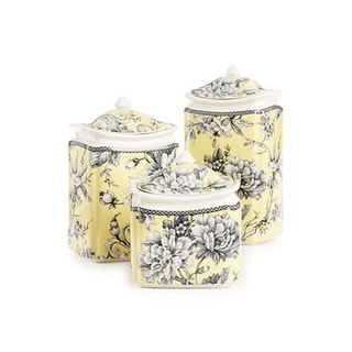 Adelaide Yellow Porcelain Canister Set