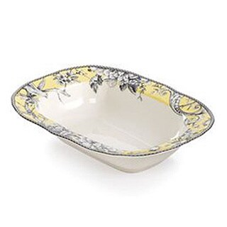 Adelaide Yellow Porcelain 11-inch Oval Serve Bowl