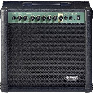 Stagg Black Metal-front 2-channel Electric Guitar Amplifier With Spring Reverb