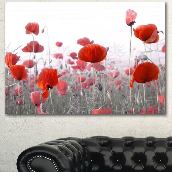 Shop designart amazing red poppy flower garden flower artwork on designart x27amazing red poppy flower gardenx27 flower artwork on mightylinksfo
