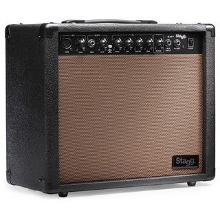Stagg 40 AA R USA Acoustic Guitar Amplifier with Spring Reverb