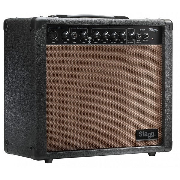 Stagg 20 AA R USA Acoustic Guitar Amplifier with Spring Reverb