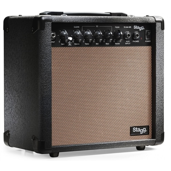 Stagg 15 AA DR USA Acoustic Guitar Amplifier with Digital Reverb