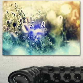 Designart 'Blue Mountain Meadow Flowers' Modern Flower Canvas Art Print