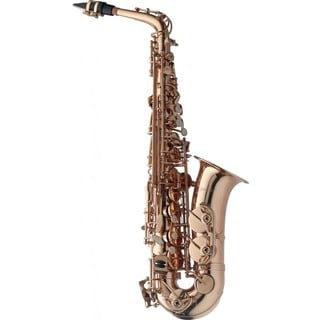 Levante LV-AS4105 Metal Gold Lacquer Finish Eb Alto Hand-engraved Saxophone With Soft Case