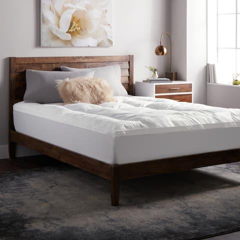 Select Luxury Shredded Gel Memory Foam and Fiber Filled 3-inch Mattress Topper - White