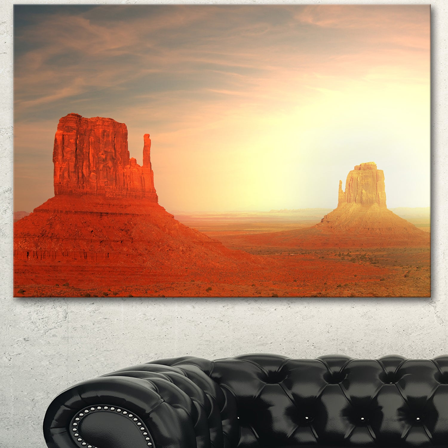Shop Designart Monument Valley Utah Usa Landscape Art Print Canvas Orange Overstock 13134307