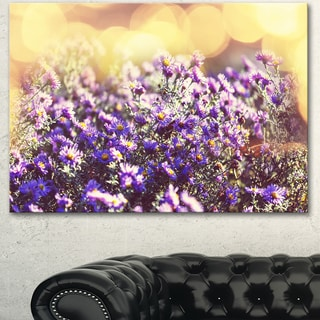 Designart 'Purple Little Wild Flowers ' Extra Large Floral Canvas Art