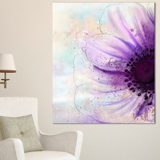 Flower with Large Purple Petals' Flowers Canvas Wall Artwork