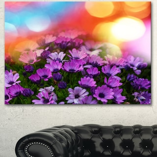 Designart 'Beautiful Little Purple Flowers' Extra Large Floral Canvas Art