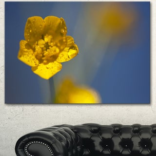 Designart 'Solitary Large Yellow Flower' Modern Flower Canvas Art Print