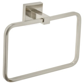 Italia CA3602BN Capri Brushed Nickel Brass Towel Ring
