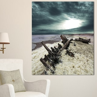 Designart 'Skeleton Coast National Park' Landscape Art Print Canvas