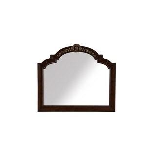 A.R.T. Furniture Valencia Dark Oak Wood and Veneer Landscape Mirror - Brown Oak