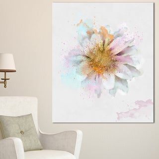 Designart 'Beautiful Flower with Yellow Stigma' Floral Canvas Artwork Print
