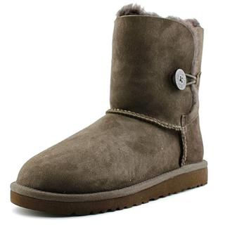 Ugg Australia Girl's Bailey Button Brown Regular Suede Ankle Boots