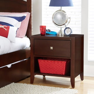 NE Kids Pulse Collection Brown Veneer/Wood Nightstand